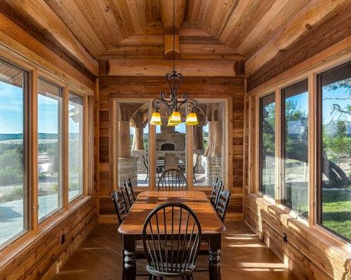 rustic formal dining room design ideas, remodels & photos