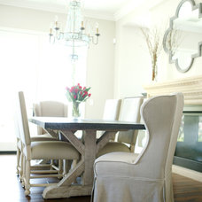 Farmhouse Dining Room by Belmont Design Group
