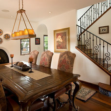Mediterranean Dining Room by Ambience Photography