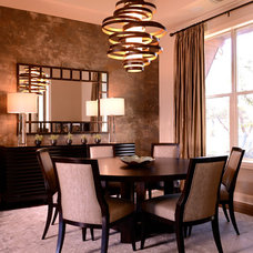 Contemporary Dining Room by 3 Fold Design Studio