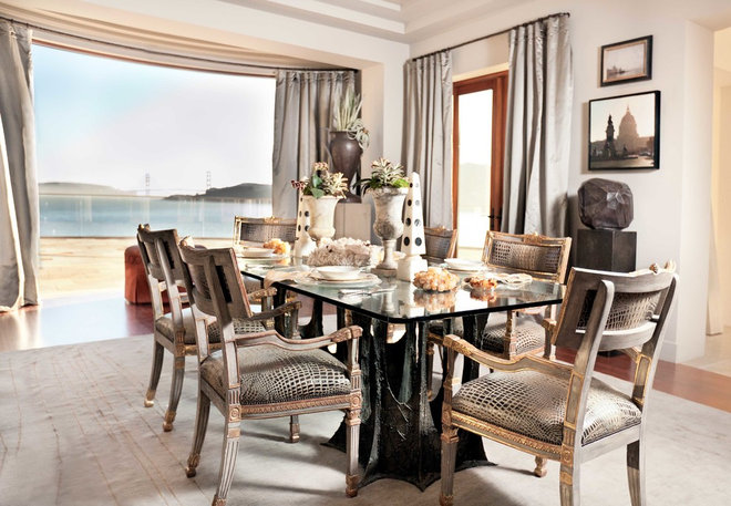 Contemporary Dining Room by Candace Barnes