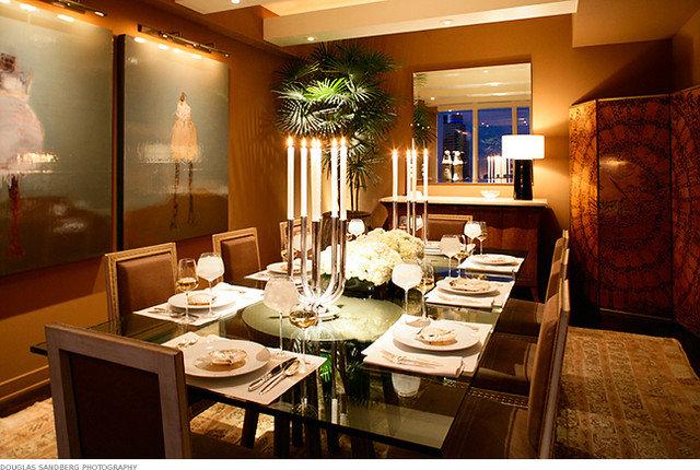 Transitional Dining Room by Michael Merrill Design Studio, Inc