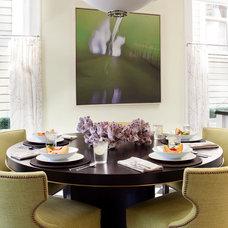 Eclectic Dining Room by Michael Merrill Design Studio, Inc
