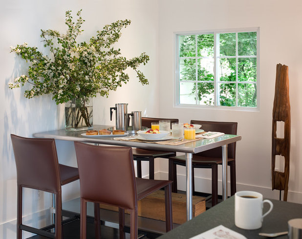 7 steps to a fat free kitchen - Dining table against the wall ...