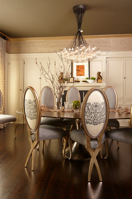 Traditional Dining Room by Annabelle Herrera Interiors