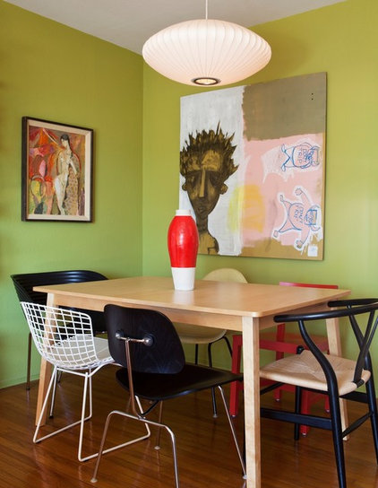Eclectic Dining Room by Janel Holiday Interior Design