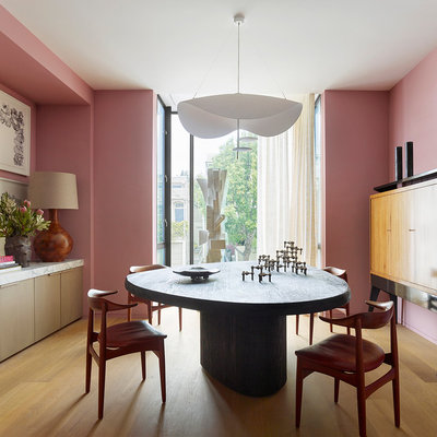 Contemporary Dining Room by Jamie Bush & Co.