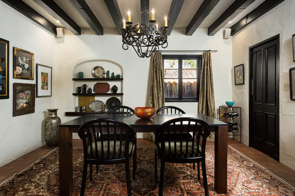 Mediterranean Dining Room by Chelsea Construction Corporation
