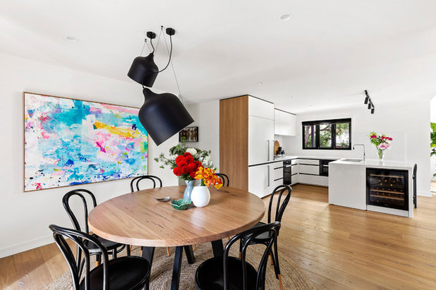 Contemporary Dining Room by Minett Studio Architecture and Design