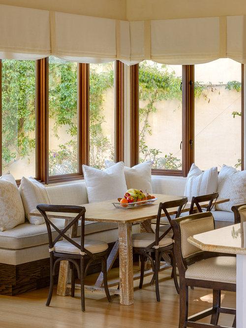 Mid sized mediterranean kitchen dining room combo idea in Santa Barbara. Custom Chair Cushions   Houzz