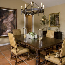 Mediterranean Dining Room by M. Roy Interior Design