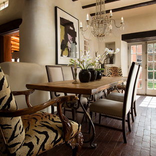 Santa Fe Style Furniture Inspiration For A Mid Sized Eclectic Dining Room Remodel In Albuquerque