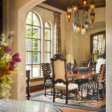 Eclectic Dining Room by Bob Greenspan Photography