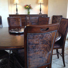 Eclectic Dining Room by Shannon Kirby Interiors