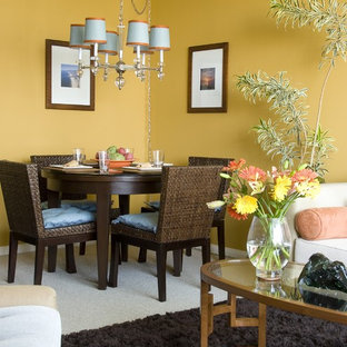 Design ideas for a tropical dining room in Los Angeles.