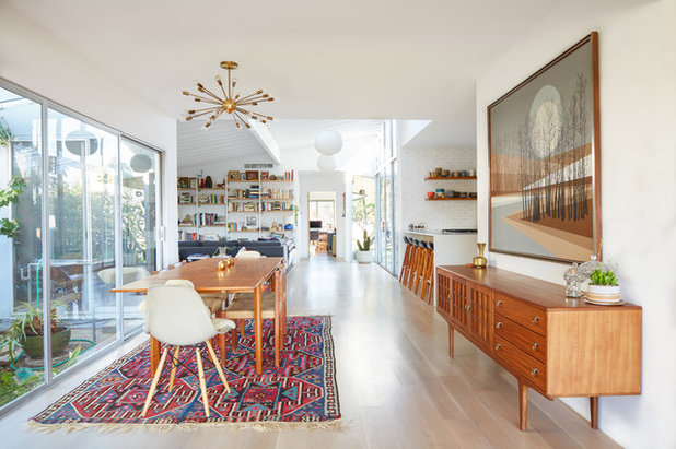 Houzz tour colorful boho style for a midcentury modern makeover
