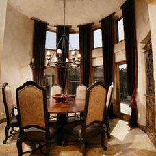 Mediterranean Dining Room by Terrell Design & Development