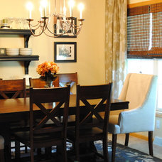 Traditional Dining Room by Jenna Burger Design