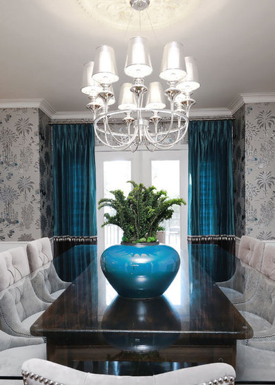 Transitional Dining Room By Atmosphere Interior Design Inc