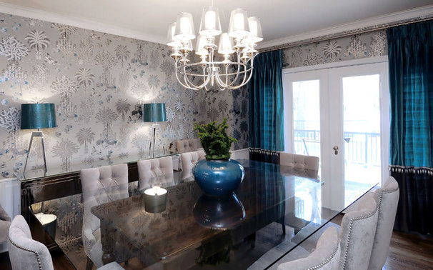 Transitional Dining Room by Atmosphere Interior Design Inc.