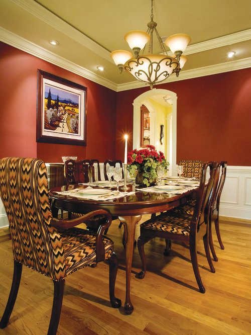Coastal dining room design ideas renovations photos for Dining room ideas with red walls