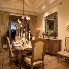 Mediterranean Dining Room by Sater Design Collection, Inc.