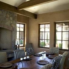 Mediterranean Dining Room by Francis Garcia Architect