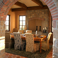 mediterranean dining room by Francis Garcia Architect