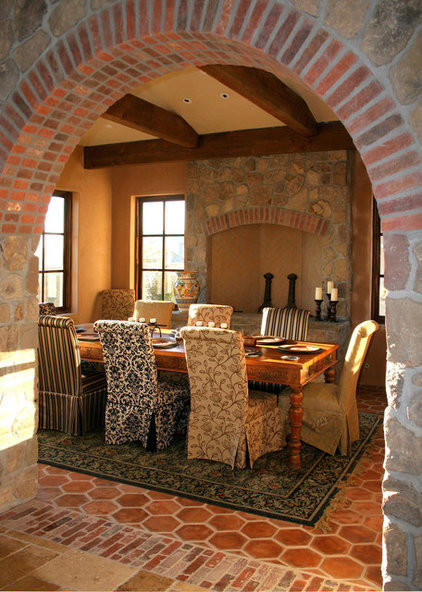 Rustic Dining Room by Francis Garcia Architect