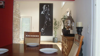 Sax Player feature stretched canvas