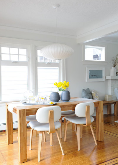 Midcentury Dining Room by Simply Home Decorating