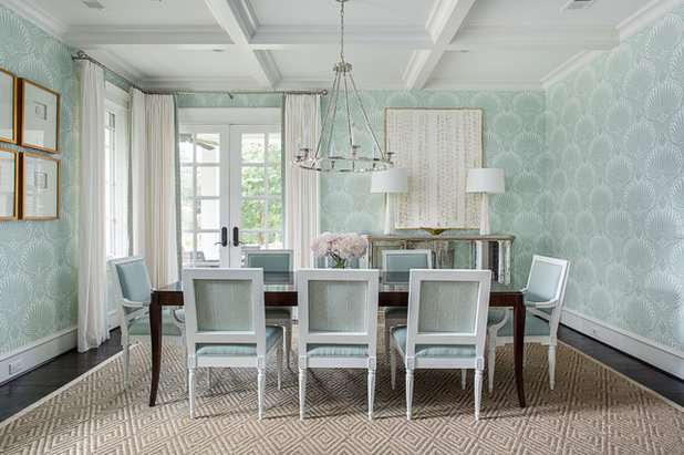 Beach Style Dining Room by Emily Johnston Larkin