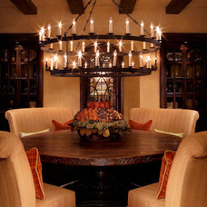 Mediterranean Dining Room by Schultz Development Corp