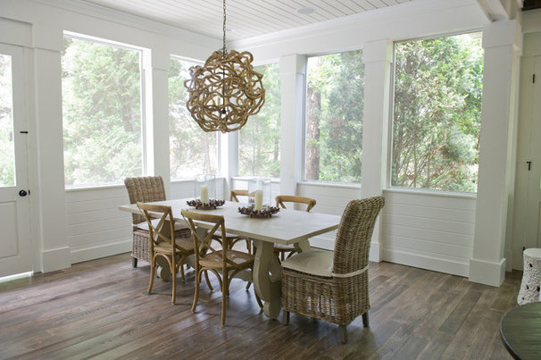 Beach Style Dining Room by Dream Weaver Building & Remodeling