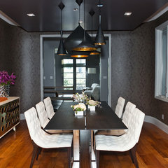 modern dining room by MB Jessee
