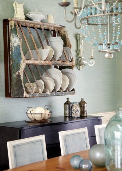 Shabby-chic Style Dining Room by Jules Duffy Designs