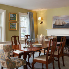 Transitional Dining Room by Gale Michaud Interiors
