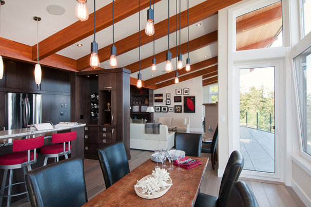 Contemporary Dining Room by Leanna Rathkelly Photography