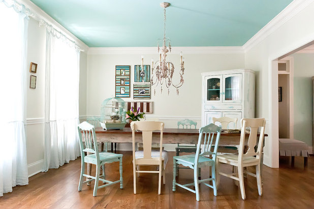 Shabby-chic Style Dining Room by Kristie Barnett, The Decorologist