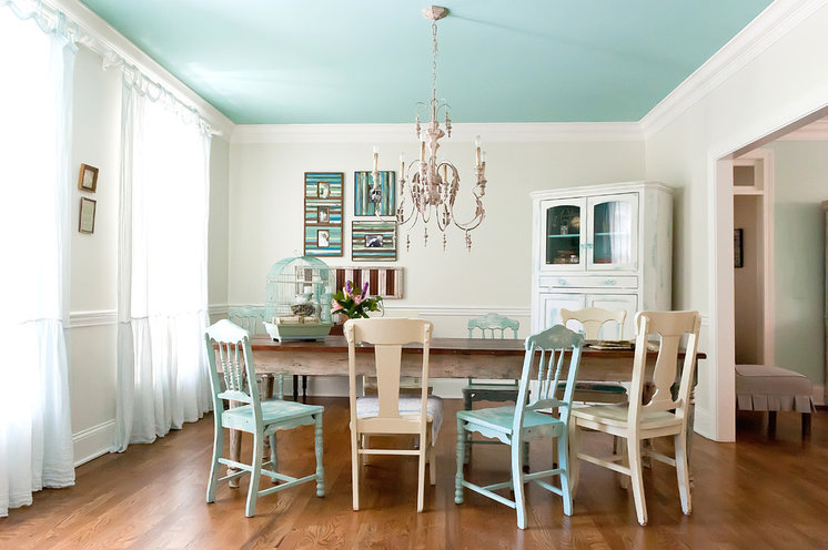 Shabby chic Dining Room by Kristie Barnett, The Decorologist