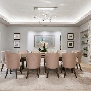 Dining Room   Contemporary Light Wood Floor And Beige Floor Dining Room Idea  In Orange County