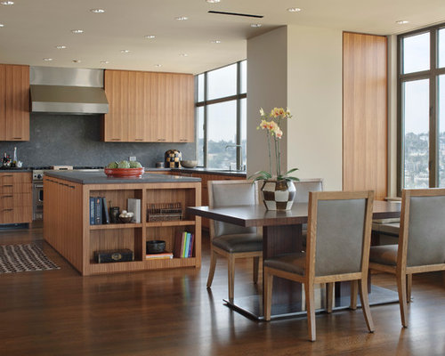 Kitchen Dining Room Design Ideas Renovations Photos With Beige Walls