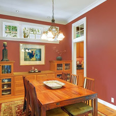 Craftsman Dining Room by Seattle Staged to Sell LLC