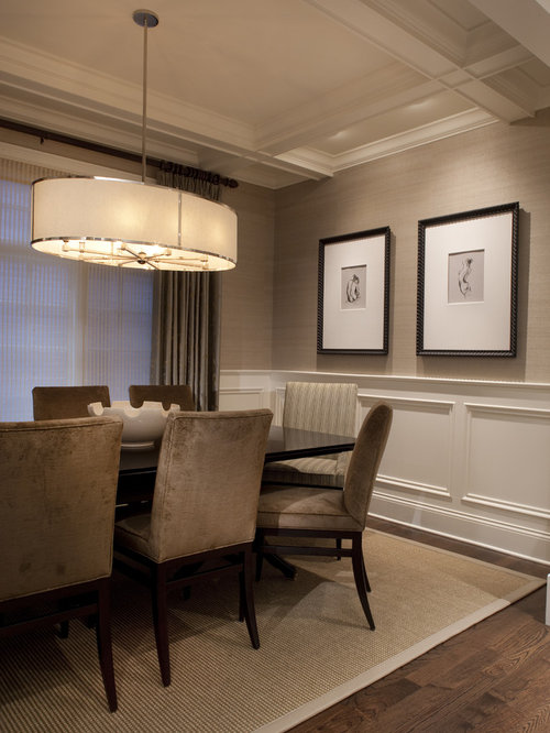 Traditional Dining Room Design Ideas, Remodels & Photos with Beige ...