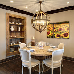 mediterranean dining room by Semerjian Interiors