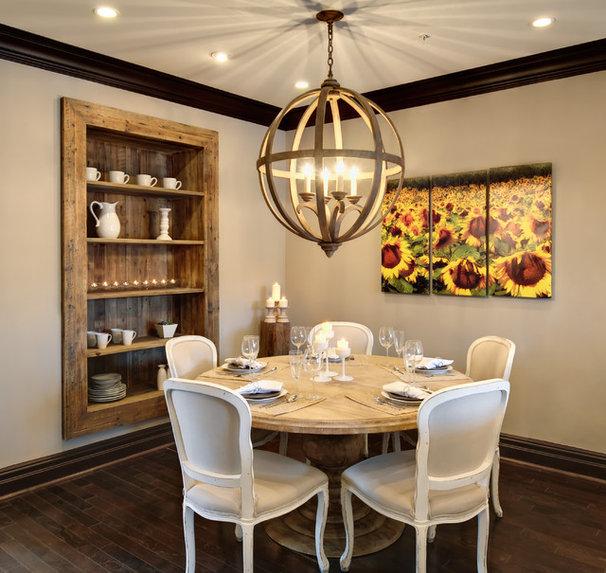 Rustic Dining Room by Semerjian Interiors