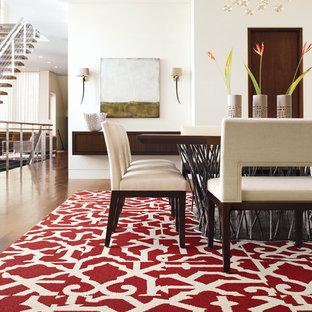Свежая идея для дизайна: столовая в современном стиле - отличное фото интерьера
