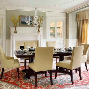 Serene & Color-Infused Waban Victorian: Dining Room