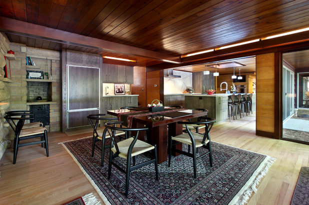 Rustic Dining Room by Scott Christopher Homes