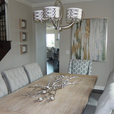 Transitional Dining Room by Smart Interiors